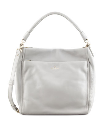 cobble hill curtis hobo bag, gray