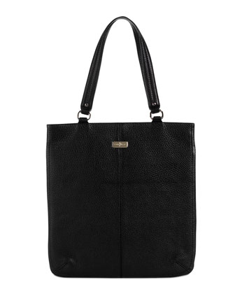 Village Flat Tote Bag, Black