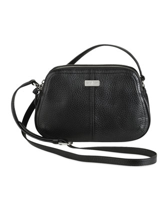 Village Double Zip Crossbody Bag, Black
