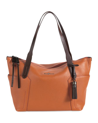 Parker Zip-Top Shopper Tote Bag, Orange
