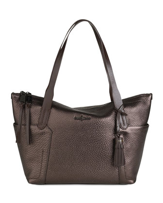 Parker Zip-Top Shopper Tote Bag, Brown
