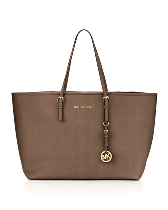 Medium Jet Set Multifunction Saffiano Travel Tote