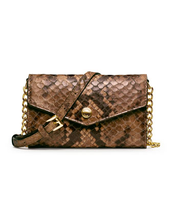 Snake-Embossed iPhone Crossbody Case