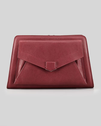 PS13 Clutch Bag, Wine