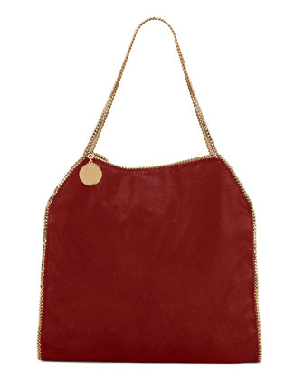 Falabella Shaggy Deer Large Tote Bag, Wine
