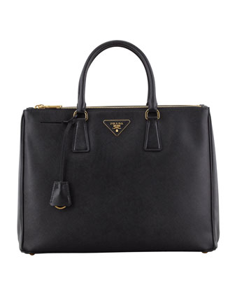 Saffiano Executive Tote Bag, Black (Nero)