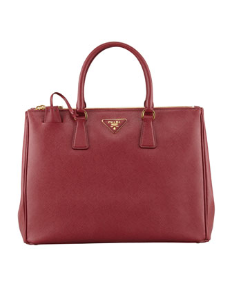 Saffiano Executive Tote Bag, Wine (Cerise)