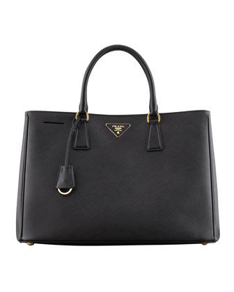 Saffiano Gardener's Tote Bag, Black (Nero)