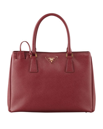 Saffiano Small Gardener's Tote Bag, Wine