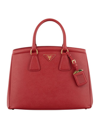 Saffiano Parabole Tote Bag, Red