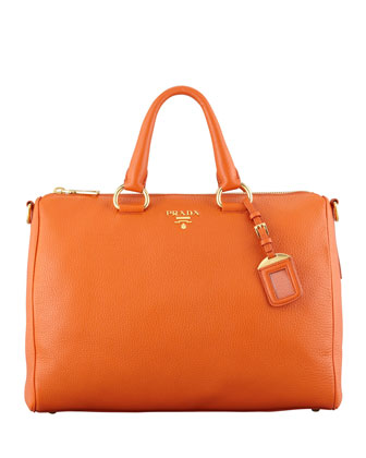 Daino Zip-Top Tote Bag, Orange