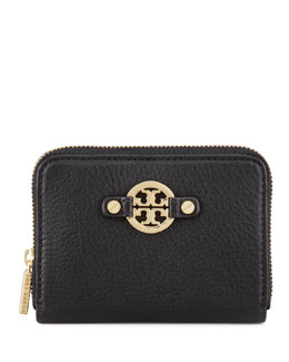 Tory Burch Amanda Zip-Around Coin Case, Black