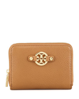 Tory Burch Amanda Zip-Around Coin Case, Royal Tan