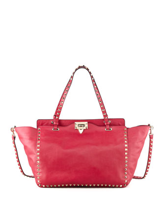 Rockstud Medium Tote Bag, Pink