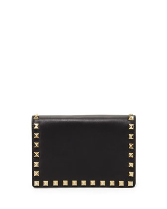 Rockstud Small Chain Pochette Bag, Black