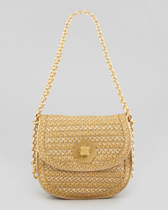 Oh Baby Squishee Shoulder Bag, Gold/Silver