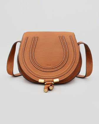 Marcie Small Crossbody Satchel Bag, Tan