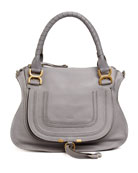Marcie Medium Shoulder Bag, Gray