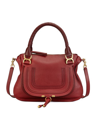 Marcie Medium Shoulder Bag, Red