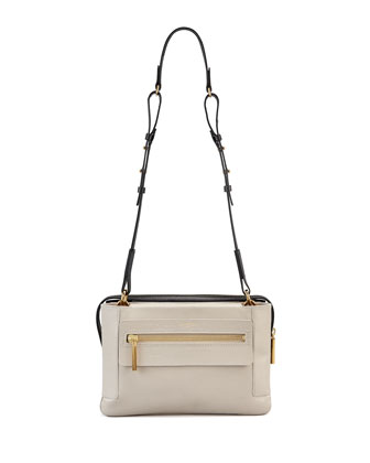 Le Jour Medium Shoulder Bag, Eggshell