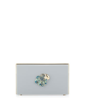 Pandora Aquarius Zodiac Clutch, Light Gray
