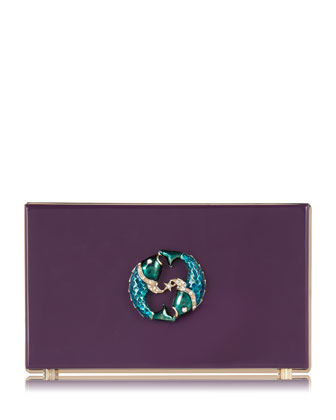 Pandora Pisces Zodiac Clutch, Purple