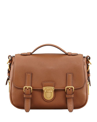 Daino Flap-Lock Messenger Bag, Brown (Brandy)