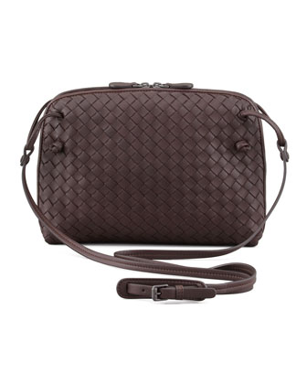 Veneta Crossbody Bag, Dark Brown
