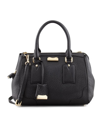 Padlock Satchel Bag, Black