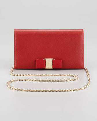 Mini Vara Crossbody Wallet Clutch Bag, Red