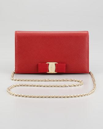 Mini Vara Crossbody Wallet Clutch Bag, Red