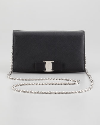 Mini Vara Crossbody Wallet Clutch Bag, Black
