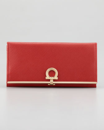 Gancini Icona Continental Wallet, Red