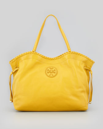 Marion East-West Slouchy Tote Bag, Yellow