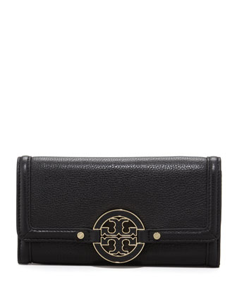 Amanda Continental Flap Wallet, Black