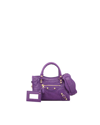 Mini Giant 12 Golden City Bag, Ultraviolet Purple