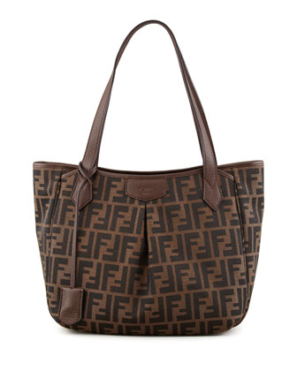Zucca Medium Shopping Tote Bag, Tobacco