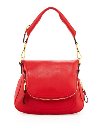 Jennifer Medium Shoulder Bag, Red