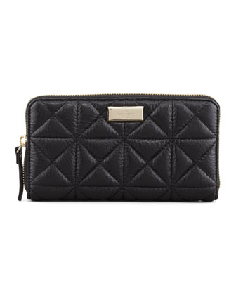 sedgwick place lacey zip wallet, black