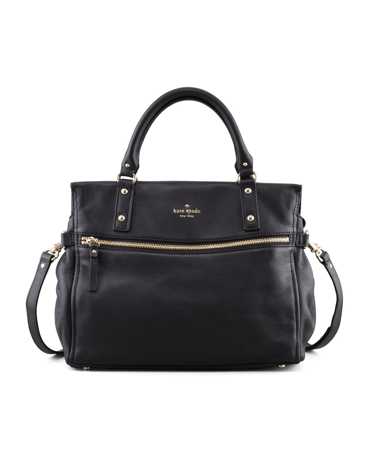 cobble hill little murphy satchel bag, black   kate spade new york