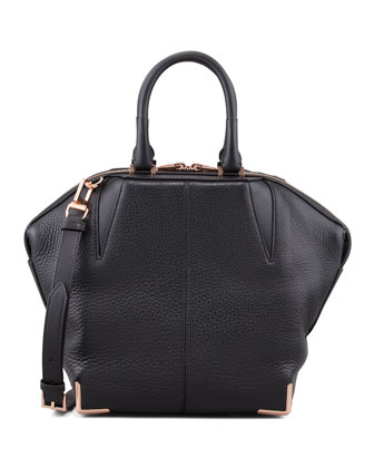 Small Emile Skeletal Tote Bag, Black/Rose Golden
