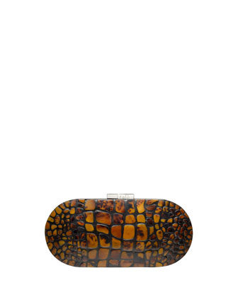 Mary Alice Small Shell Clutch Bag, Brown