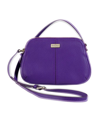 Village Double-Zip Crossbody Bag, Purple