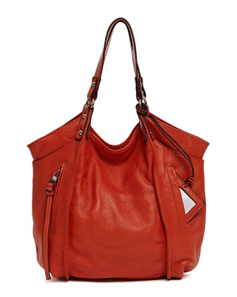 Logan Leather Tote Bag, Red
