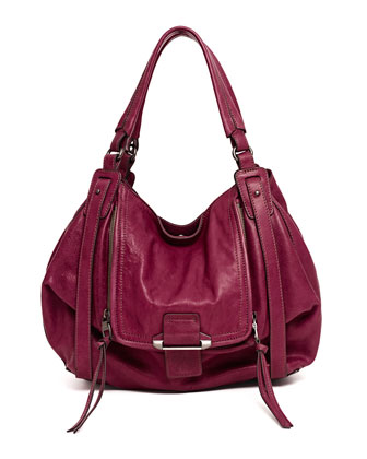Jonnie Hobo Bag, Wine