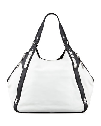 Libra Colorblock Hobo Bag, White Multi