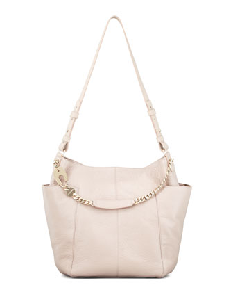 Anna Shoulder Bag Leather Tote Bag, Neutral