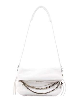 Biker Small Crossbody Bag, White