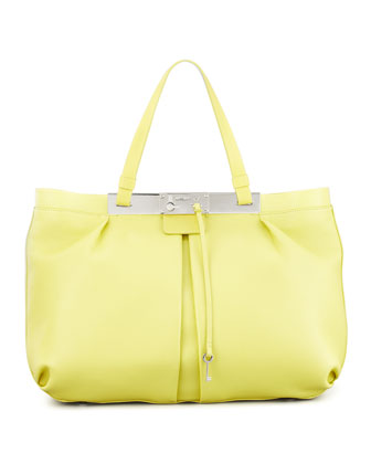 Ferris Leather Tote Bag, Yellow