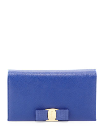 Miss Vara Leather Wallet-on-a-Chain, Zaffiro Viola